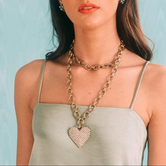 Loren Hope Conrad necklace w/ heart charm